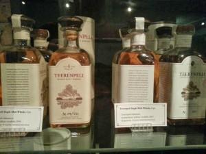 Teerenpeli whisky bottles
