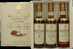 Macallan Tripack - Elegancia & 10 year old cask strength