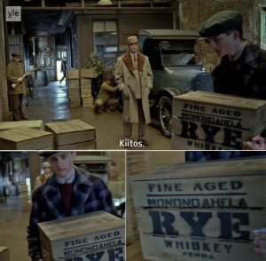 Monongahela Rye Whiskey in Boardwalk Empire | Screenshot