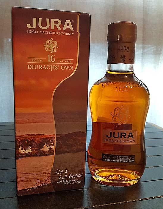 Isle of Jura 16 YO single malt whisky review