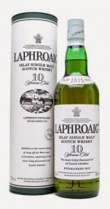 Laphroaig 10 year old single malt whisky