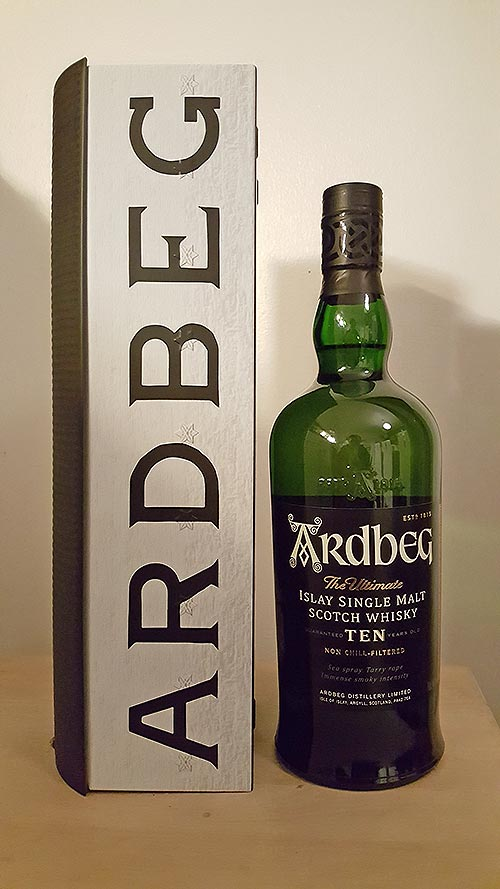 Warehouse Pack of Ardbeg 10 year old single malt whisky