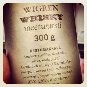 Wigren Glenfiddich Whisky sausage mettwurst