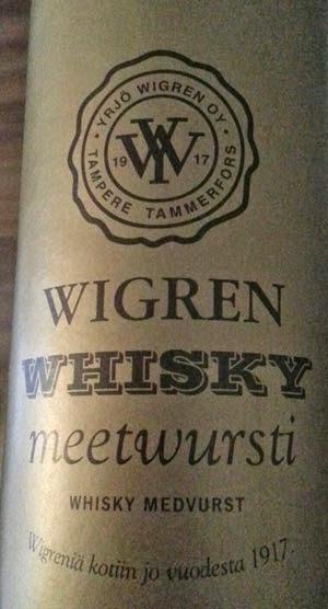 Wigren whisky mettwurst