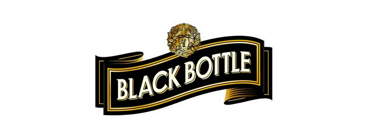 Black Bottle logo from the old bottling