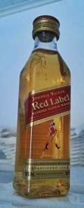 Johnnie Walker Red Label miniature bottle