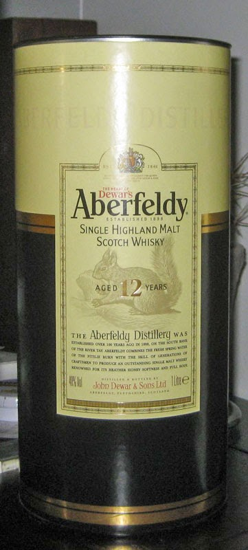 Aberfeldy 12 year old single malt whisky review - Old version
