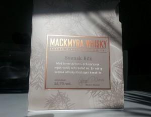 Mackmyra Svensk text in the box