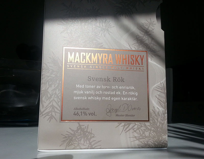 Mackmyra Svensk text in the box