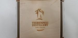Bottom of the whisky packaging   Teerenpeli single malt