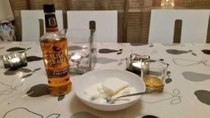 Whisky liqueur & ice cream