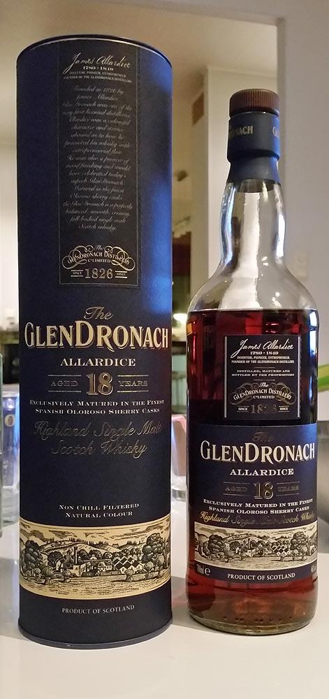 d2c78ca35a9 GlenDronach 18 year old Allardice single malt whisky review