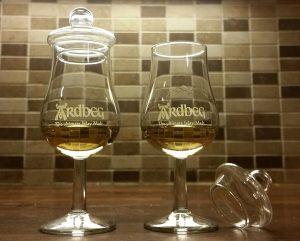 Nosing Copita glasses for whisky by Ardbeg
