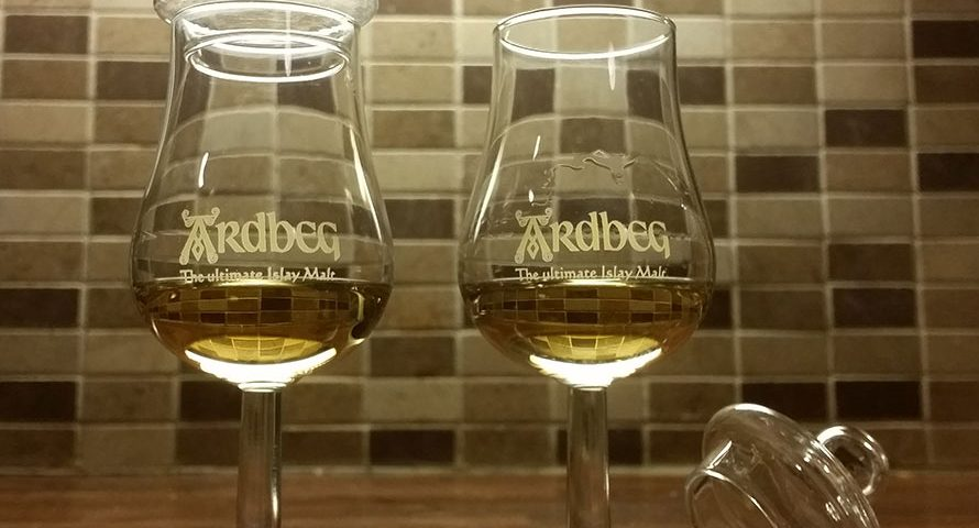Nosing Copita glasses for whisky by Ardbeg