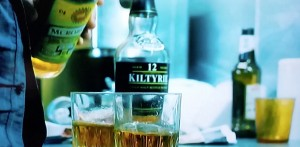 Kiltyrie 12 year old single malt and McRobert blended whisky appeared in movie Filth