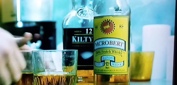 Whisky in movies, fantasy whisky called Kiltyrie 12yo