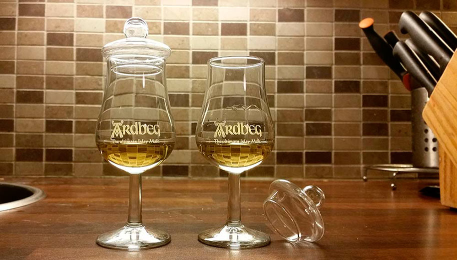 Lagavulin 12 year olds in Ardbeg glasses