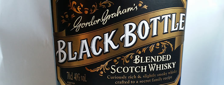 Black Bottle label of new bottling