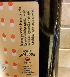 Mufloni Saison Gaelach matured in Irish whiskey casks by Jameson