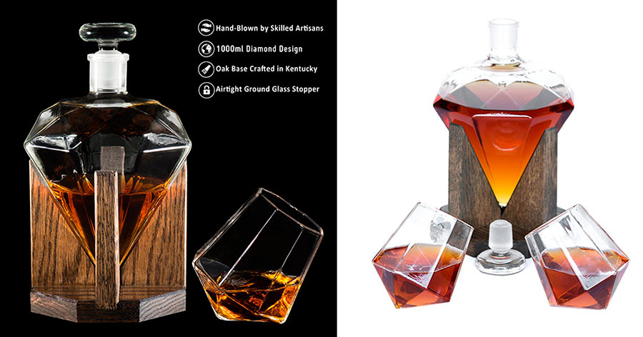 Diamond Whiskey Decanter Set | Buy them online