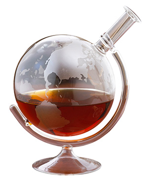 Globe whisky decanter is a unique whiskey decanter