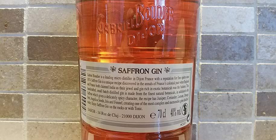 Label of Saffron Gin