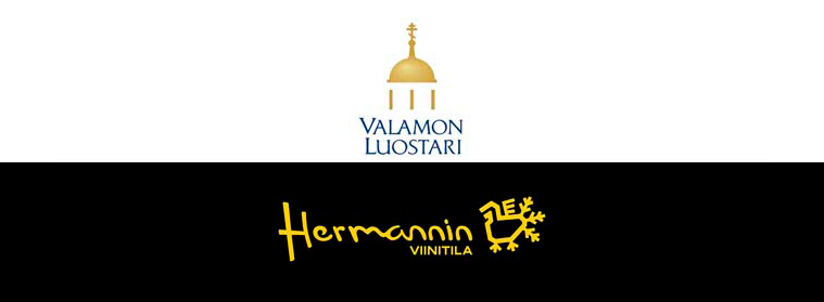 Valamo Monastery and Herman's vineyard logo