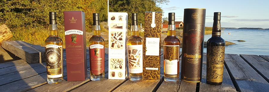 Compass Box whisky tasting in Finnish archipelago