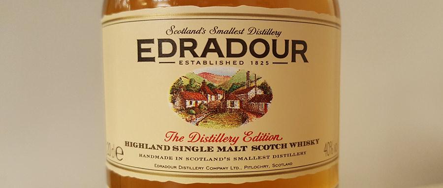 Edradour 10YO bottle label - check out the review