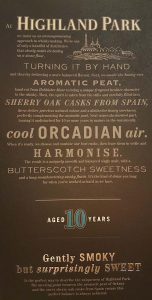 Highland Park 10YO package text
