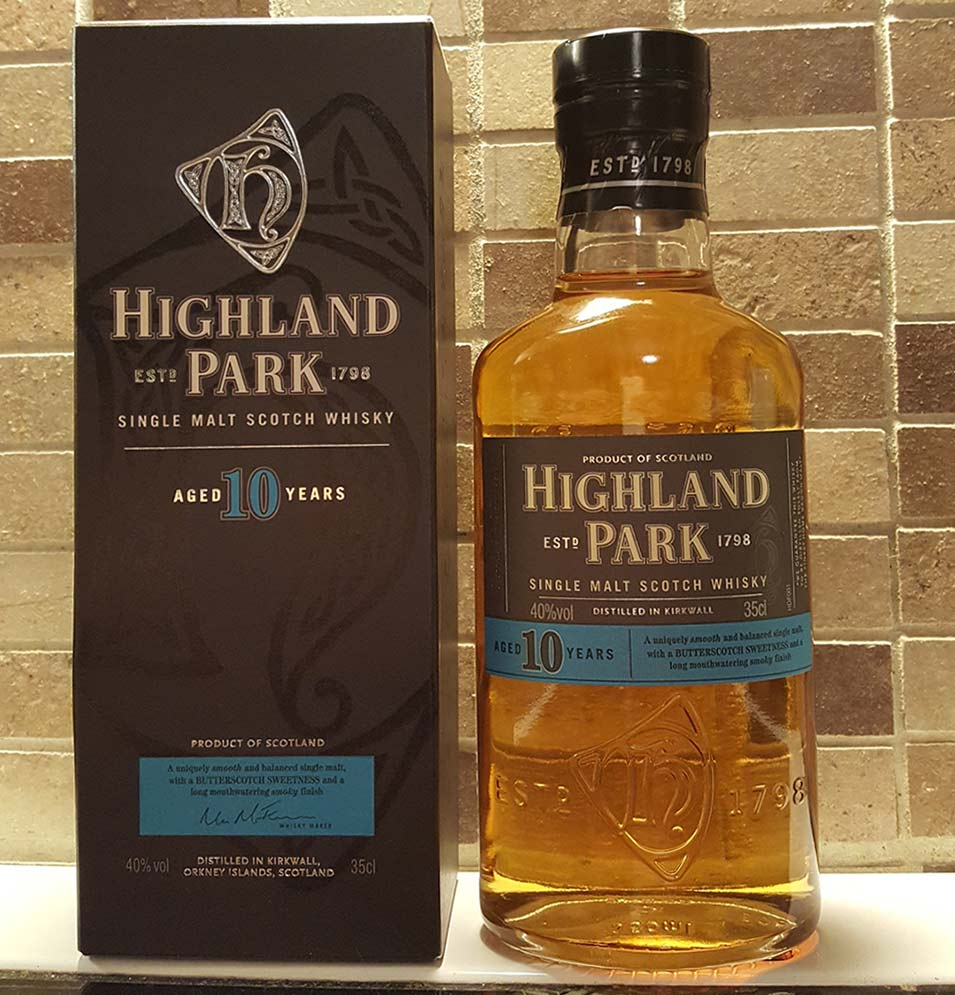 Highland Park 10 year old single malt whisky review