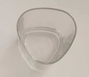 Scotch whiskey tumbler glass