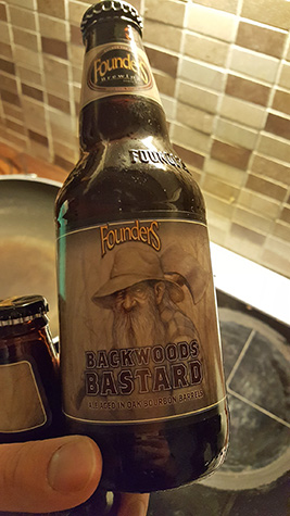 Founders Backwoods Bastard Ale matured in whisky casks