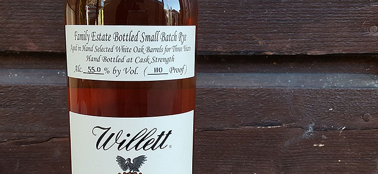 Willett 3 year old Single Barrel Small Batch Rye Whiskey