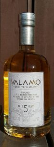 Valamo 5 year old cask strength single malt whisky review