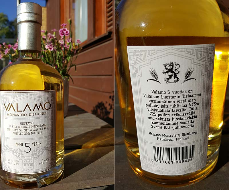 Valamo 5YO Whisky Review – first official limited release for retail markets