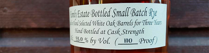 3 Year Old Willett 110 Proof Single Barrel Rye Whiskey