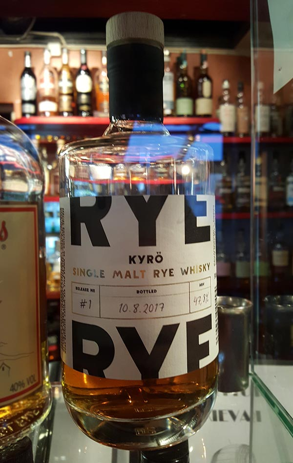 First Finnish Rye Whisky – Kyrö Distillery's malted rye called Kyrö Single Malt Rye