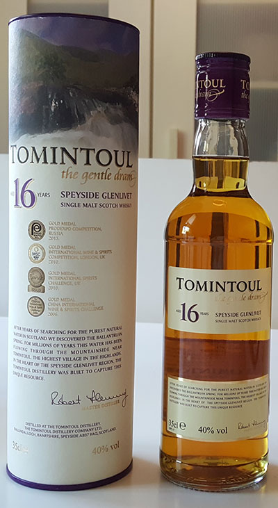 Tomintoul 16 Year Old Single Malt Scotch Whisky Review