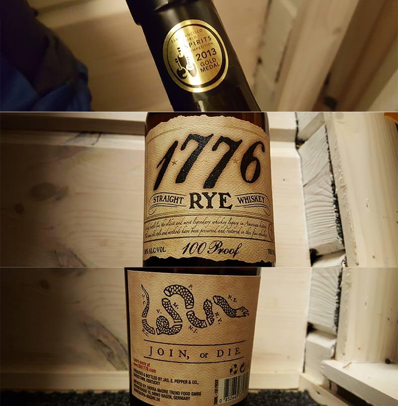 James E. Pepper 1776 Straight Rye Whiskey Review