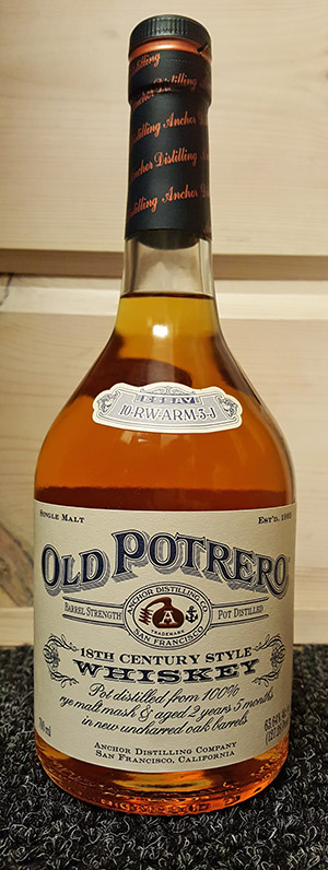 Old Potrero 18th Century Style 63.6% ABV Rye Whiskey