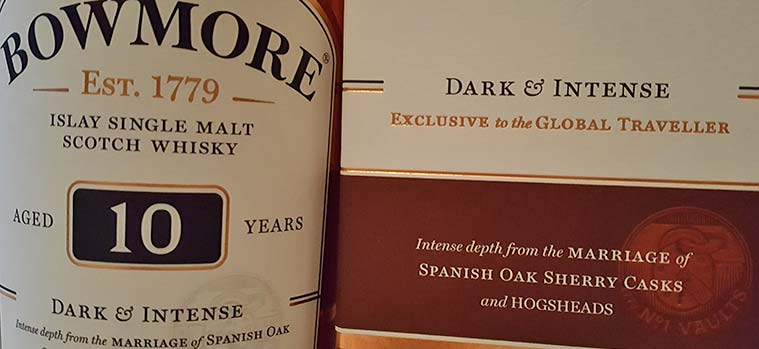 Bowmore 10 year old Dark & Intense