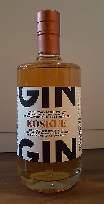 Koskue American Oak Cask Aged Rye Gin by Kyrö Distillery