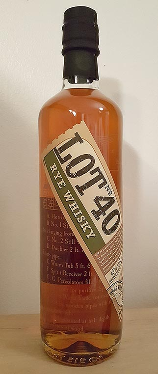 Canadian Small Batch Rye Whisky - Lot No. 40 Review
