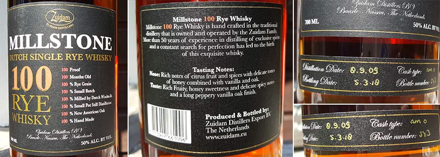 Zuidam Distillers Millstone 100 Dutch Rye Whisky Review