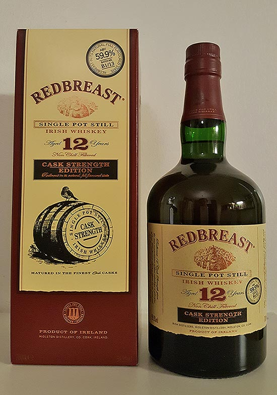 Redbreast 12 Year Old Cask Strength Single Malt Whisky Review