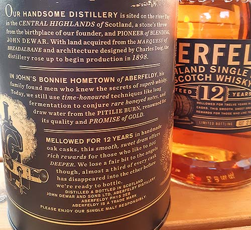 New package and bottle design of Aberfeldy 12 year old single malt whisky