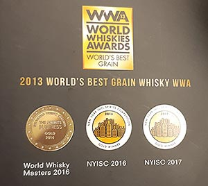 2013 World Whiskies Awards Best Grain Whisky - Bain's Cape Mountain Whisky