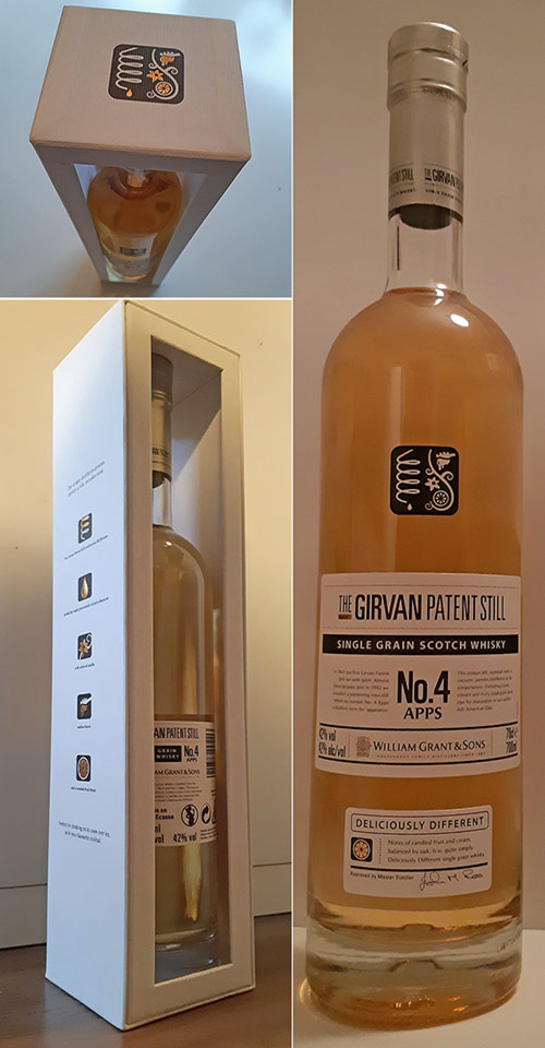 Single grain whisky review of  Girvan whisky from Apparatus 4 Patent Still