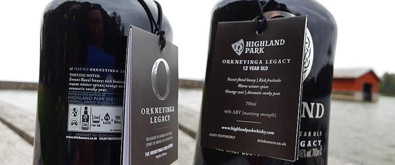 Orkneyinga Legacy 12YO bottle and label